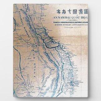 Antique Vietnamese map Photo Plaque