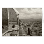 Antique View of Florence Greeting Cards