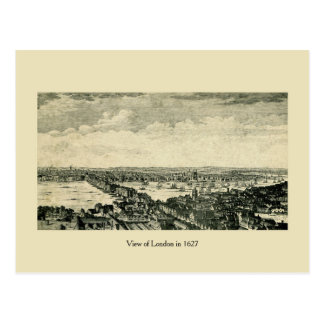 Antique View of London in 1627 Postcard