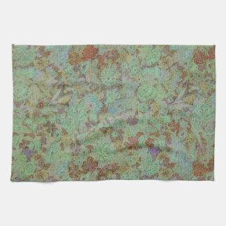 Antique,vintage,aqua,floral,lace,pattern,victorian Towel