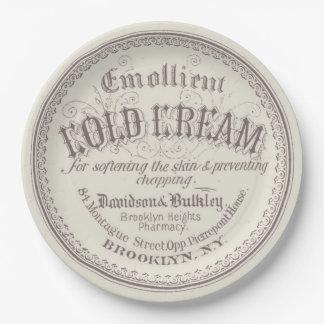 Antique Vintage Beauty Advertisement Paper Plate