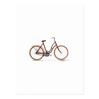 Antique Vintage Bicycle Red Design Style Postcard