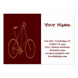 Antique Vintage Bicycle Red Tan Bike Cyclist Business Card