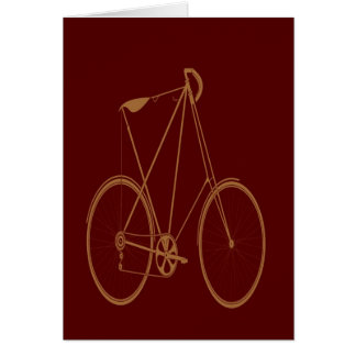 Antique Vintage Bicycle Red Tan Bike Cyclist Cards