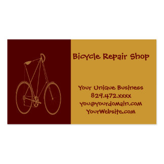Antique Vintage Bicycle Red Tan Bike Cyclist Double-Sided Standard Business Cards (Pack Of 100)