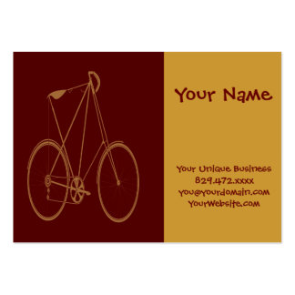 Antique Vintage Bicycle Red Tan Bike Cyclist Large Business Cards (Pack Of 100)