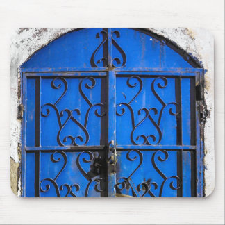 Antique Vintage Blue Steel Door Saudi-Arabia Mouse Pad