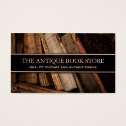 Antique / Vintage Book Store Photo - Business Card