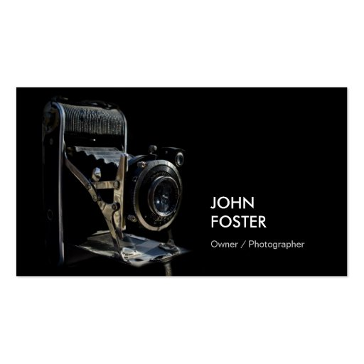 Antique Vintage Camera Store - Photographer Business Card Templates (front side)