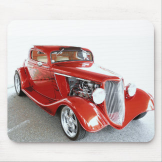Antique Vintage Collector RED car Mouse Pad