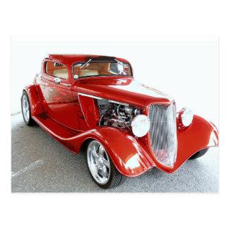 Antique Vintage Collector RED car Postcard