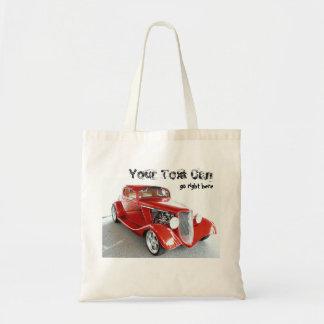 Antique Vintage Collector RED car Tote Bag