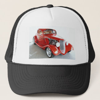 Antique Vintage Collector RED car Trucker Hat
