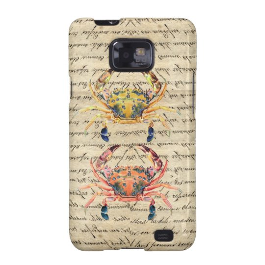 Antique Vintage crab illustration Samsung Galaxy SII Cover