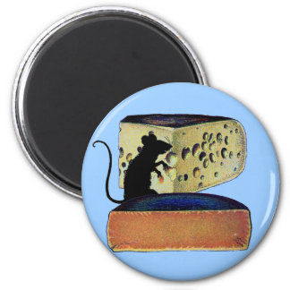 Antique Vintage Double Gloucester Cheese 2 Inch Round Magnet