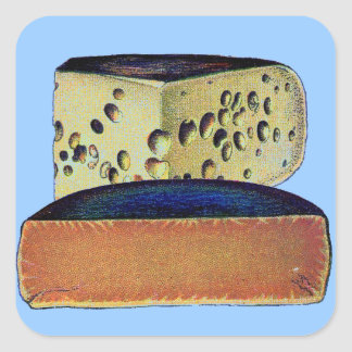 Antique Vintage Double Gloucester Cheese Square Sticker