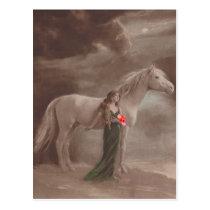 Antique Vintage Fantasy Night Dream Horse Postcard