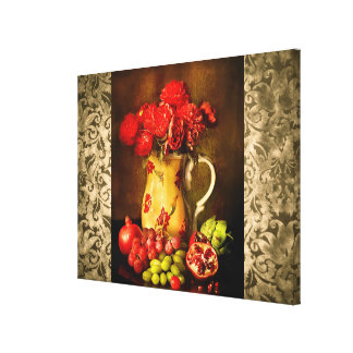 Antique Vintage Fruit and Flower Canvas