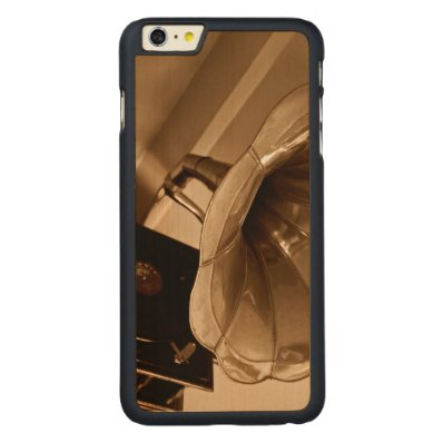 Antique Vintage Gramophone Gifts Music Lovers Carved® Maple iPhone 6 Plus Slim Case