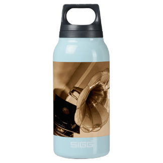 Antique Vintage Gramophone Gifts Music Lovers 10 Oz Insulated SIGG Thermos Water Bottle