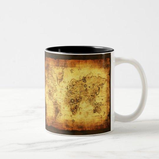 Antique Vintage Historic Old World Map Coffee Mug Zazzle Com