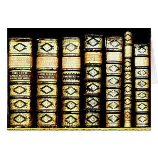 Antique Vintage Leather books Pattern Card