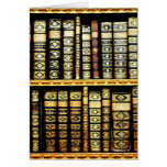 Antique Vintage Leather books Pattern Greeting Card
