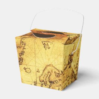 Antique Vintage Old Gold World Map VII Favor Box