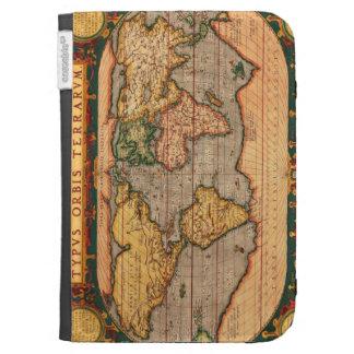 Antique Vintage Old World Map Design Kindle Keyboard Case