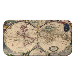 Antique Vintage Old World Map iPhone 4 Savvy Case