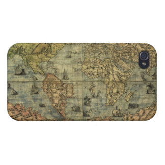 Antique Vintage Old World Map iPhone 4 Savvy Case Cover For iPhone 4