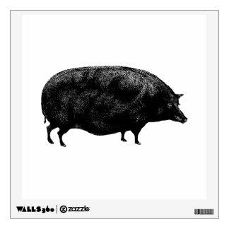 Antique Vintage Pig Wall Decals