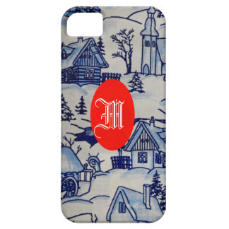 Antique Vintage Retro Monogram Winter Xmas Holiday iPhone SE/5/5s Case