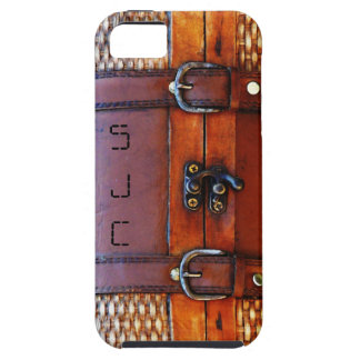 Antique Vintage Satchel with Personalized Initials iPhone SE/5/5s Case