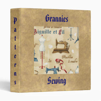 Antique Vintage Seamstress Sewing Binder
