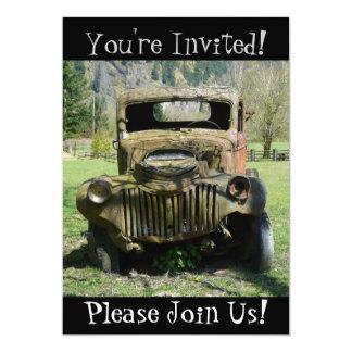Antique Vintage Truck Retirement Party Invitation