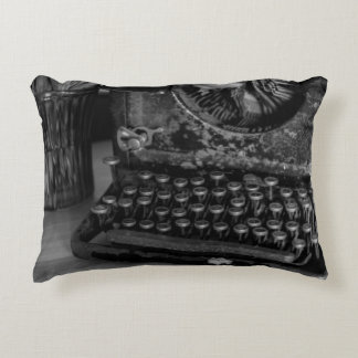 Antique Vintage Typewriter Accent Pillow