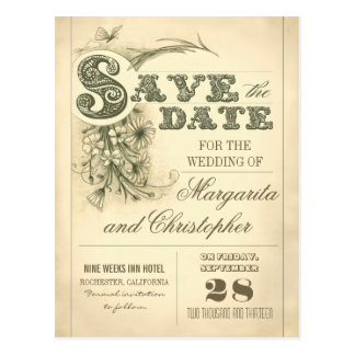 Antique save the date postcards