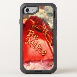 Antique Vintage Valentine Heart in Red Be Mine OtterBox Defender iPhone 8/7 Case