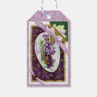 Antique Violet Rowboat Easter Gift Tags