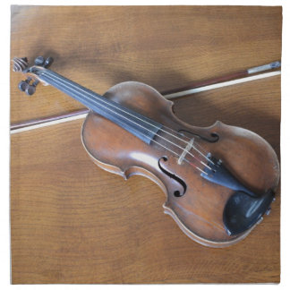 Antique Violin Cloth Napkin