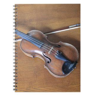 Antique Violin Spiral Note Books
