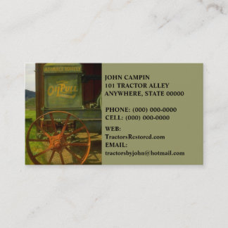 ANTIQUE VNTG TRACTOR RESTORATION ~ BUSINESS CARDS! BUSINESS CARD