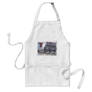 Antique wagon adult apron