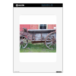 Antique wagon decal for the iPad