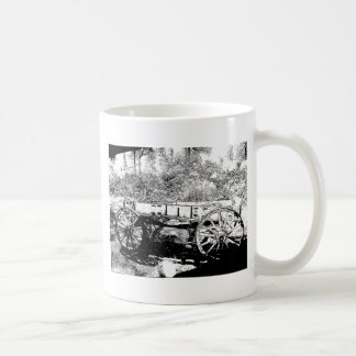 Antique Wagon in Pen and Ink Drawing Coffee Mug