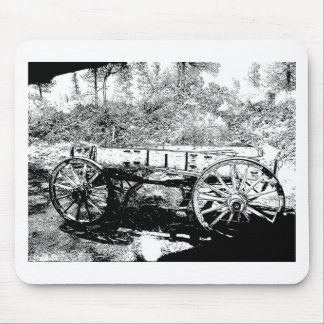 Antique Wagon in Pen and Ink Drawing Mouse Pad