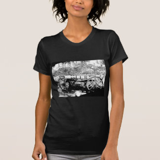 Antique Wagon in Pen and Ink Drawing Tee Shirt