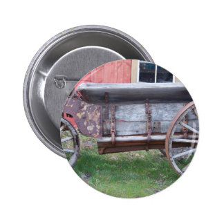 Antique wagon pinback button