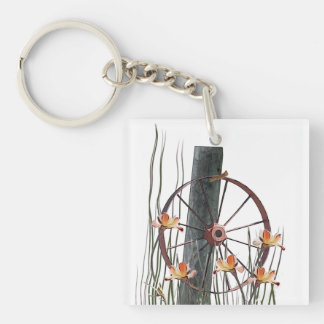 Antique Wagon Wheel Keychain